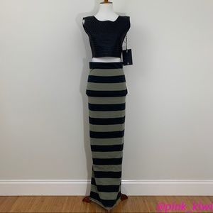Free People Stripe Column Maxi Skirt